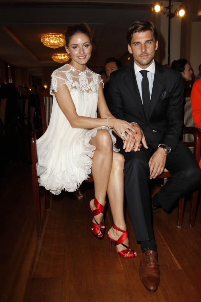 """Olivia Palermo et Johannes Huebl lors de la 9e cérémonie du """"Couple de l'année"""" à Hambourg en Allemange, le 11 avril 2011."""