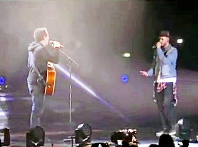 """Matt revient : """"non mais, Gad, qu'est-ce que tu fais là ? demande-moi !"""" Gad lui répond alors : """"Je voudrais chanter Petit oiseau à Bercy!"""""""