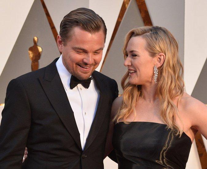 Leonardo Dicaprio était le cavalier de Kate Winslet aux Oscars 2016
