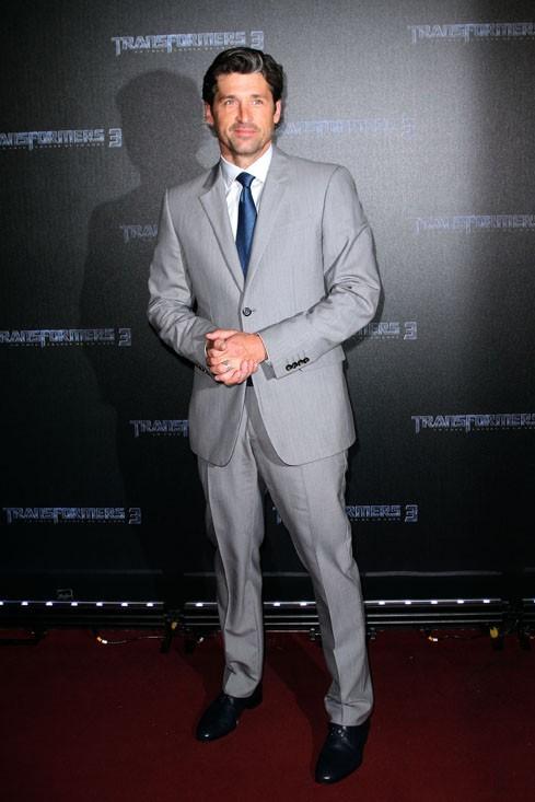 Patrick Dempsey à Paris, pour la première de Transformers 3 au Grand Rex, le 26 juin 2011.