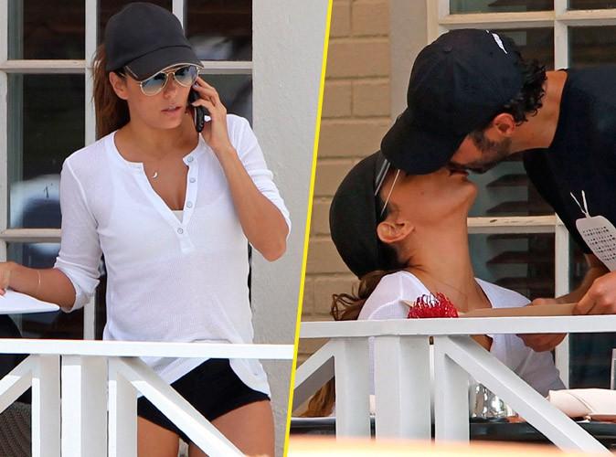 Photos : Eva Longoria : micro-short et grosse dose de bisous pour son escapade romantique à Miami avec son chéri !