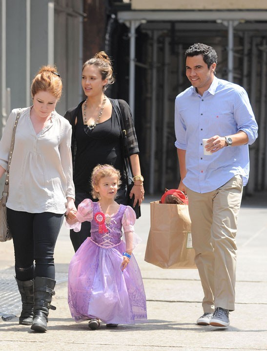 Jessica Alba en famille à New York !