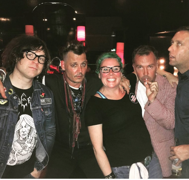 Johnny Depp, avec Ryan Adams et Doug Stanhope au Comedy Store de Los Angeles