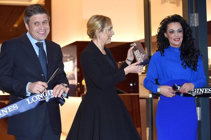 Photo : Kate Winslet : élégante et classe pour l'inauguration d'une boutique de luxe