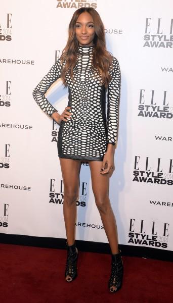 Jourdan Dunn lors de la soirée ELLE Style Awards à Londres, le 18 février 2014.