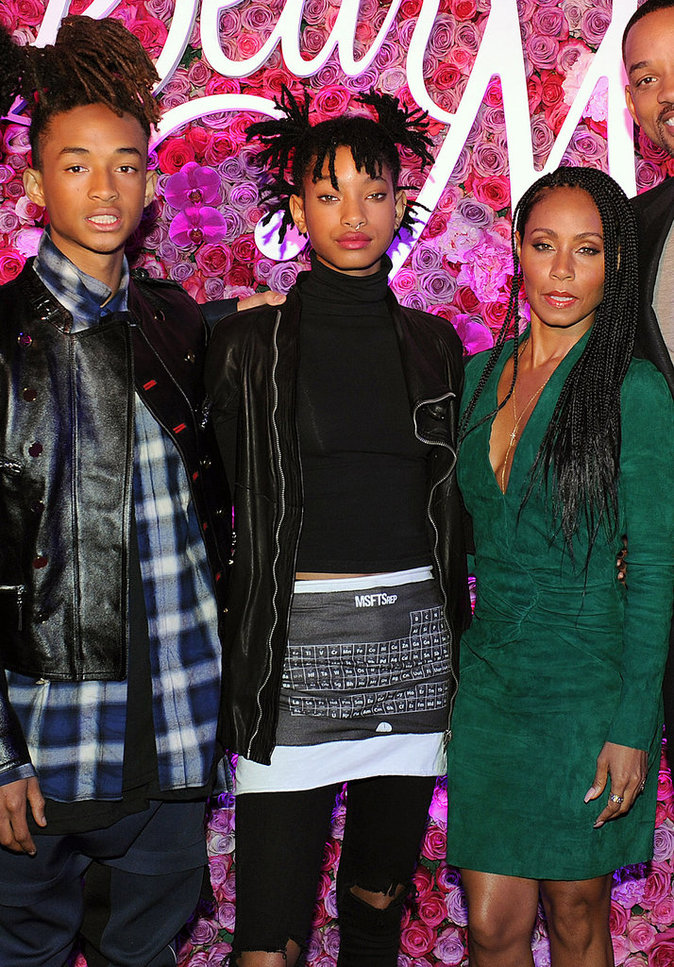 Jaden et Willow Smith avec Jada Pinkett Smith