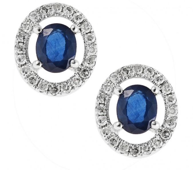 Boucles d'oreilles en saphir bleu, Princess of Monte-Carlo, 879 euros