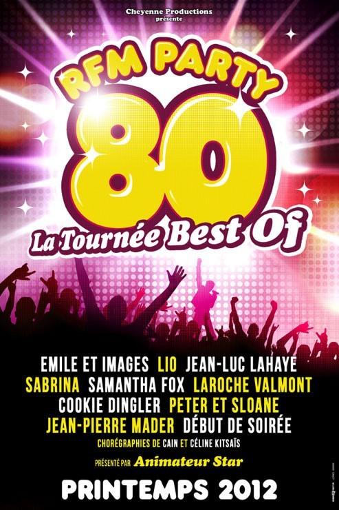 RFM Party 80 tournée 2012, 35 euros la place
