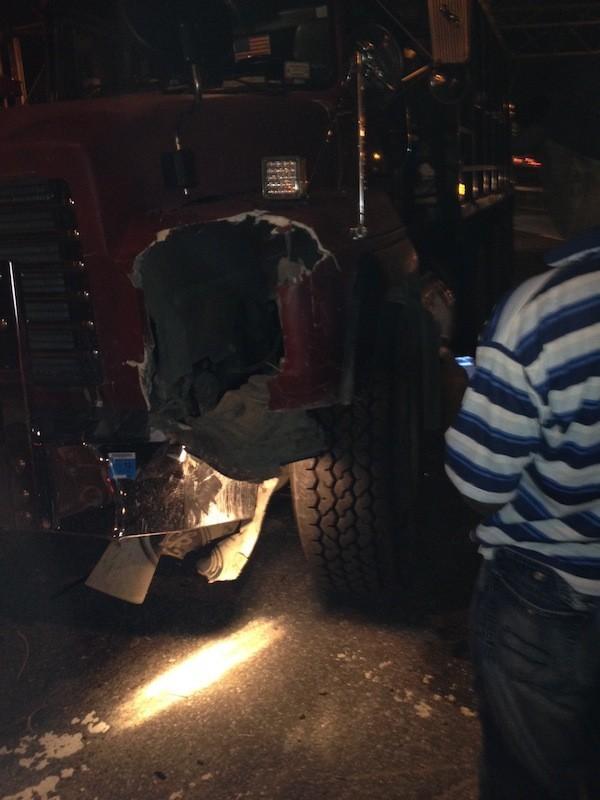 Le chauffeur du camion a perdu le contrôle du véhicule