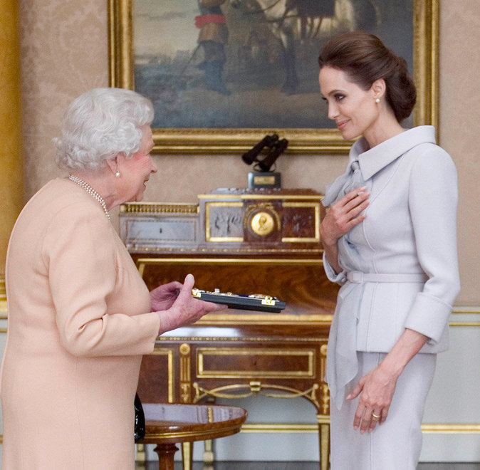 Avec Angelina Jolie
