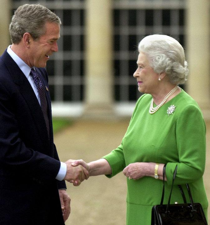 Avec George W. Bush