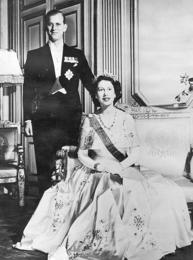 Elizabeth II et Philp Mountbatten