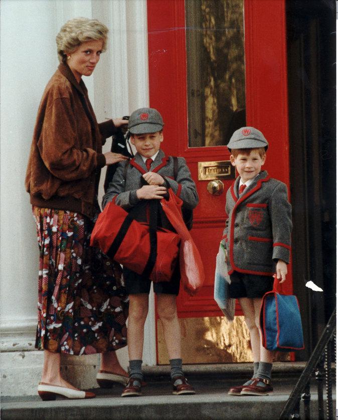Lady Di avec les princes William et Harry