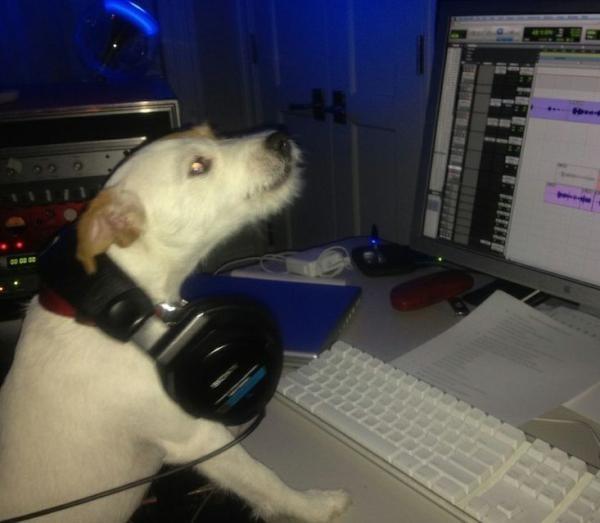 Jill E. Beans en pleine session mixage