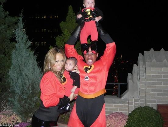 Mariah Carey en famille pour Halloween !