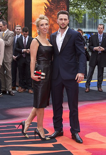 Sam Taylor-Wood et Aaron Taylor-Johnson à Londres le 11 mai 2014