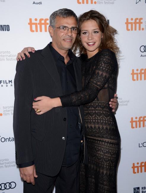 Abellatif Kechiche et Adèle Exarchopoulos lors du Festival International du Film de Toronto, le 5 septembre 2013.