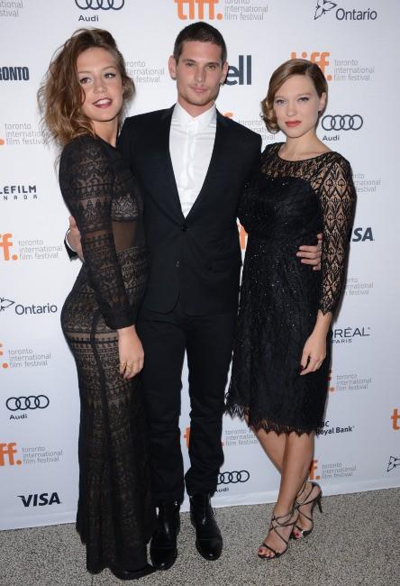Adèle Exarchopoulos, Benjamin Siksou et Léa Seydoux lors du Festival International du Film de Toronto, le 5 septembre 2013.