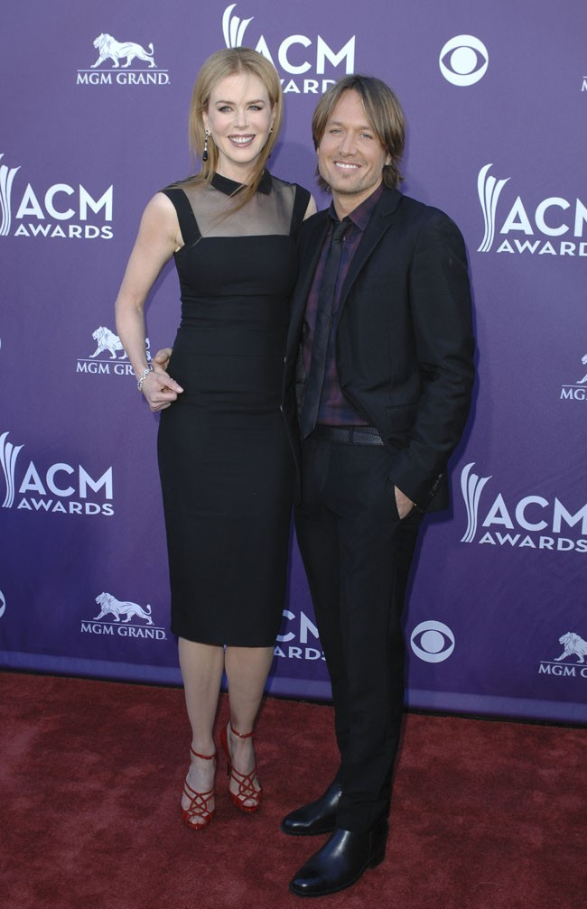 Nicole Kidman et Keith Urban sur le tapis rouge des Academy of Country Music Awards 2012