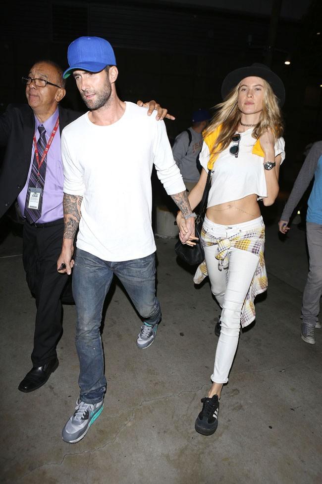Adam Levine et Behati Prinsloo à Los Angeles le 28 octobre 2014 !