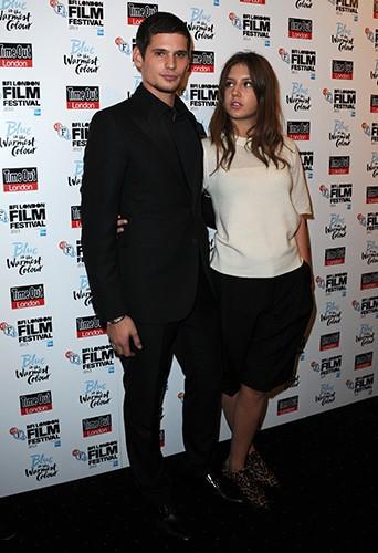 Jérémie Laheurte et Adèle Exarchopoulos à Londres le 14 octobre 2013