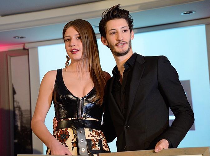 Adèle Exarchopoulos et Pierre Niney à Paris le 7 avril 2014