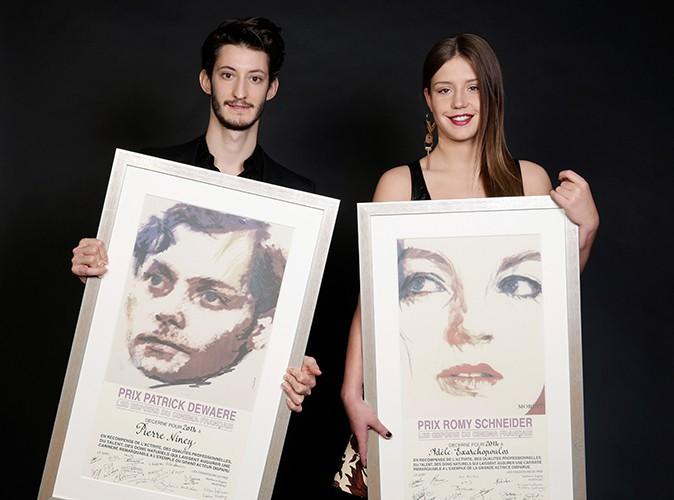 Pierre Niney et Adèle Exarchopoulos à Paris le 7 avril 2014