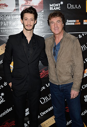Pierre Niney et François Cluzet à Paris le 7 avril 2014