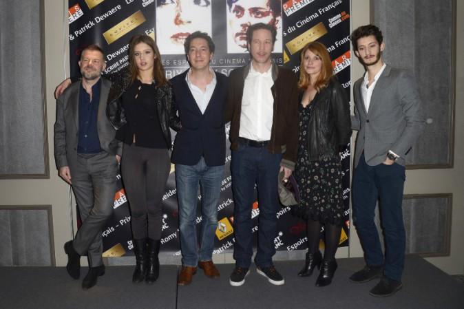 Valérie Amarou, Guillaume Gallienne, Pierre Niney, Adèle Exarchopoulos, Reda Kateb et Eric Naulleau lors de la conférence de presse de la remise...