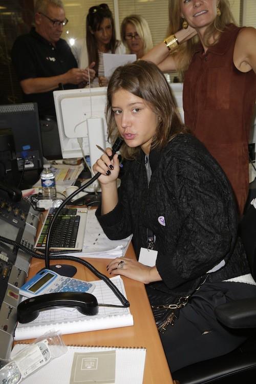 Adèle Exarchopoulos lève des fonds en hommage aux victimes des attentats du 11/09, à Paris le 11 septembre 2014