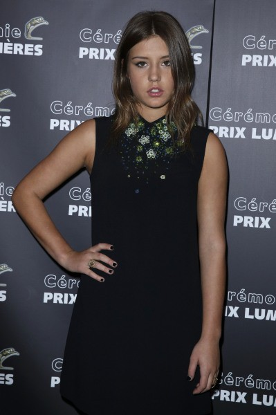 Adèle Exarchopoulos lors de la 19eme Cérémonie des Lumières à Paris, le 20 janvier 2014.