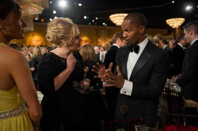 Adele et Jamie Foxx le 13 janvier 2013 à Los Angeles