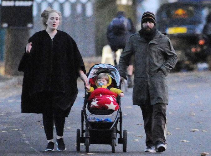 Adele en famille à Londres le 21 novembre 2013