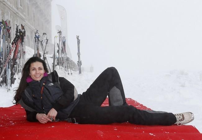 Adeline Blondieau au Festival international de la télévision de Luchon le 14 février 2013