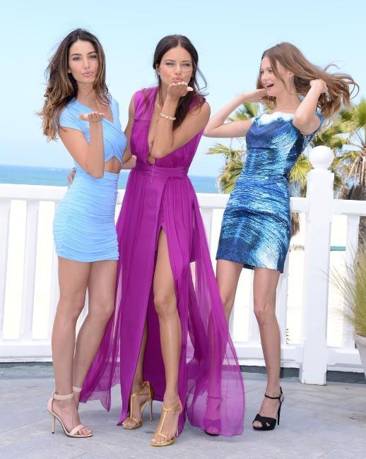 Adriana Lima, Lily Aldridge et Behati Prinsloo le 14 mai 2013 à Los Angeles