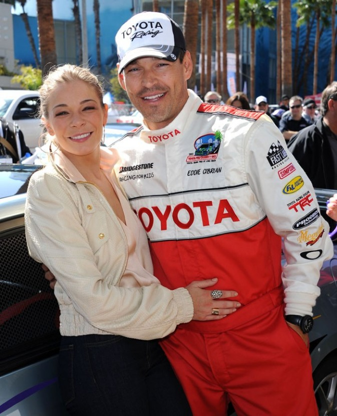 LeAnn Rimes et Eddie Cibrian à la course Toyota !