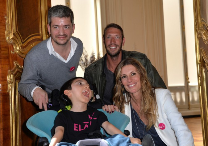 Grégoire, Alain Bernard et Sophie Thalmann à Paris le 3 juin 2015