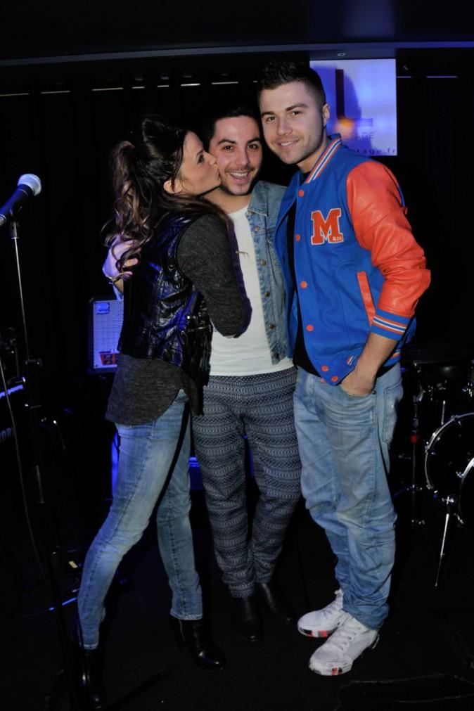 Capucine Anav et Antoni Ruiz au showcase d'Alban Bartoli