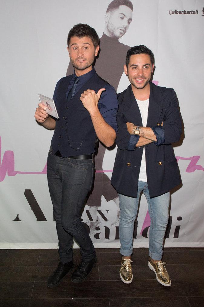 """Christophe Beaugrand et Alban Bartoli lors du lancement de son premier album """"Je ne suis pas fou"""""""