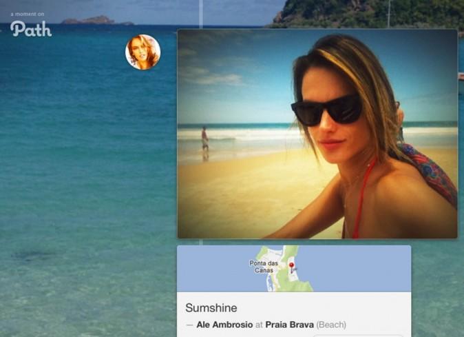 Alessandra Ambrosio en vacances au Brésil, janvier 2013