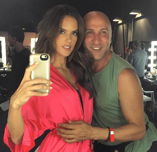 Alessandra Ambrosio à Rome pour la campagne Victoria's Secret Holidays 2015