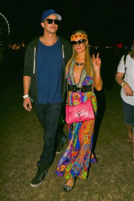 Paris Hilton, fluo à Coachella