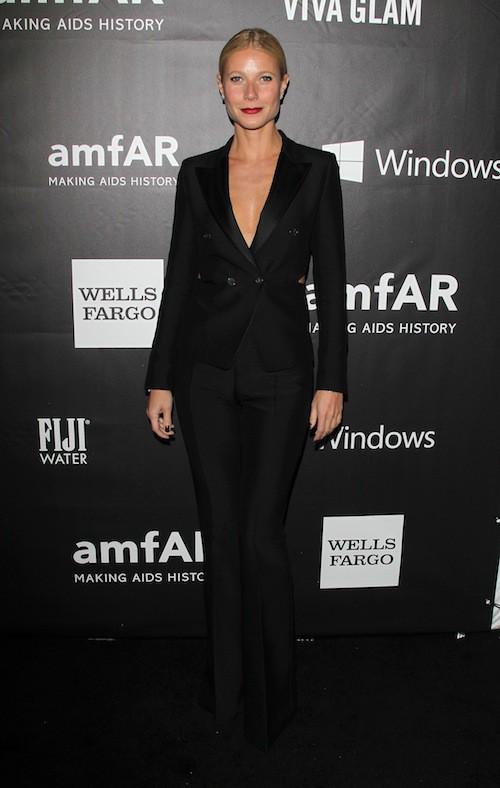 Gwyneth Paltrow au gala de l'AmfAR, le 29 octobre 2014 à Los Angeles