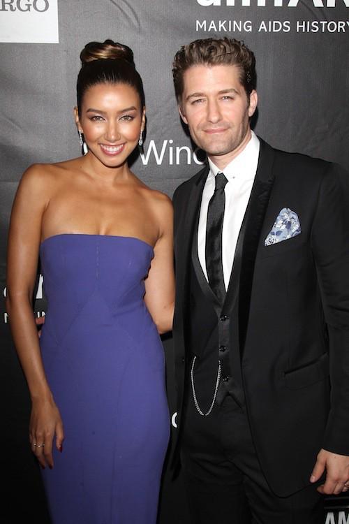 Matthew Morrison (Glee) et sa femme, Renee Puente au gala de l'AmfAR, le 29 octobre 2014 à Los Angeles