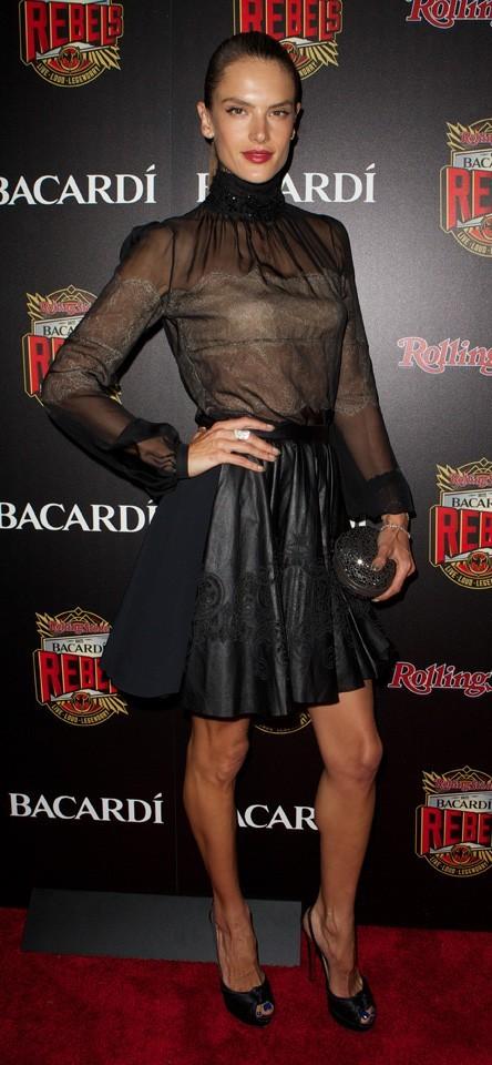 Alessandra Ambrosio à la soirée Bacardi Rebels, à New-York, le 20 mai 2013