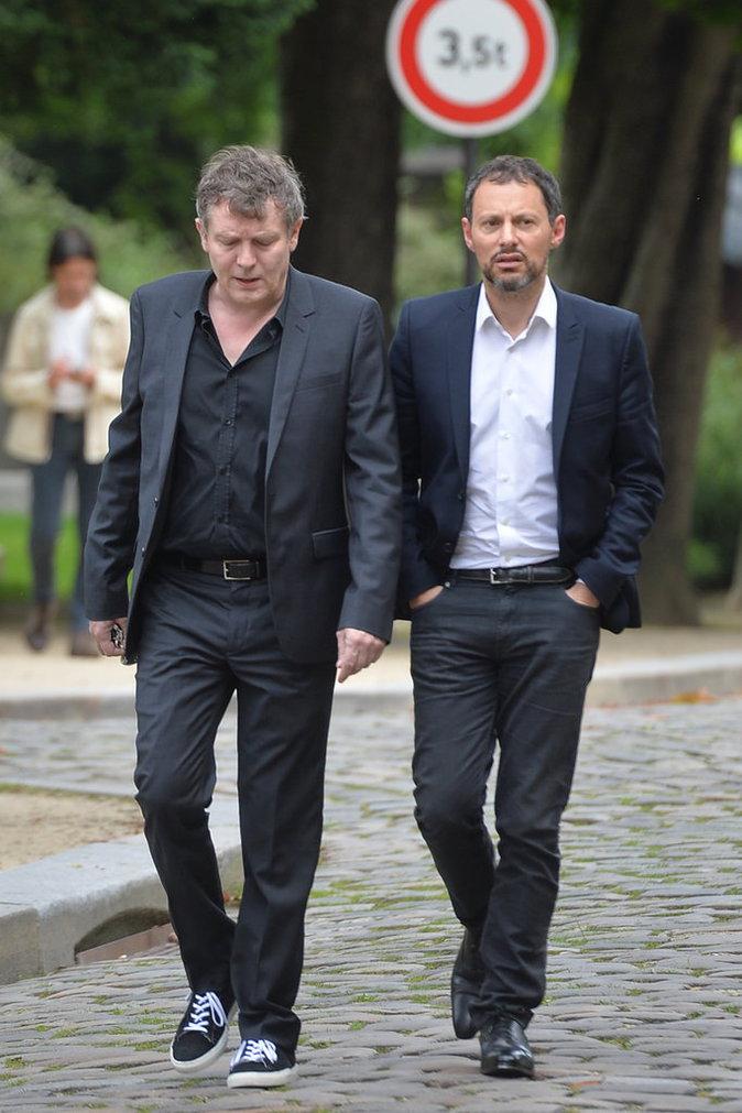 Photos : Marc-Olivier Fogiel : le monde de la télé dit au revoir à Emmanuel Maubert