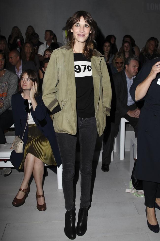 Alexa Chung le 18 septembre 2012 à Londres
