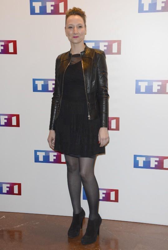 """Audrey Lamy lors de l'avant-première du téléfilm """"Ce soir je vais tuer l'assassin de mon fils"""" à Paris, le 24 mars 2014."""