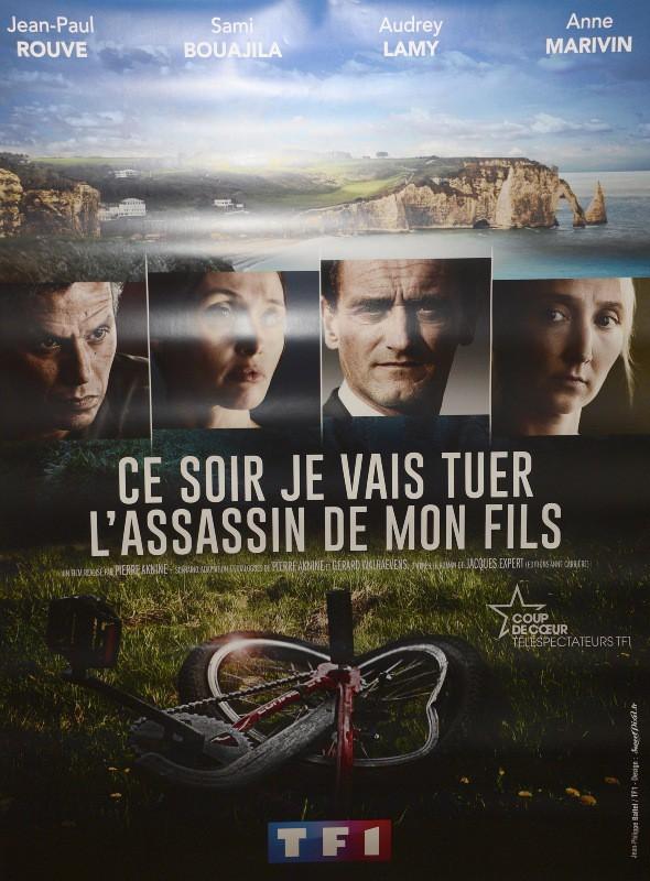 """Avant-première du téléfilm """"Ce soir je vais tuer l'assassin de mon fils"""" à Paris, le 24 mars 2014."""