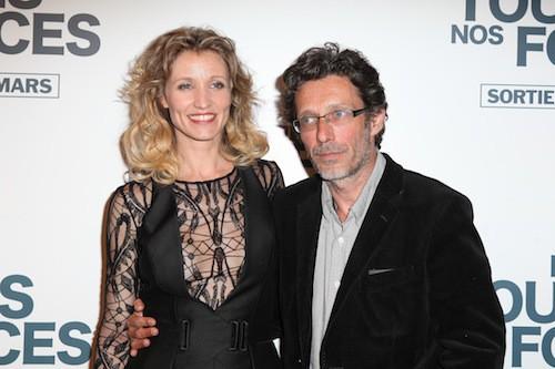 Alexandra Lamy et le réalisateur du film Nils Tavernier